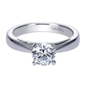 Gabriel 14 Karat Contemporary Engagement Ring ER8132W4JJJ