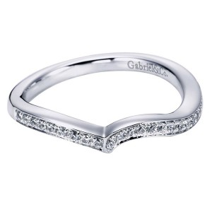 Gabriel 14 Karat Contemporary Wedding Band WB6294W44JJ