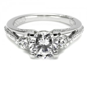 Tacori Platinum Simply Tacori Engagement Ring 2633RD75