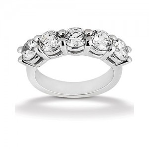 Diamond Five Stone Band Platinum Taryn Collection TQD B-4225