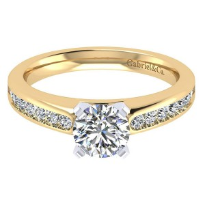 Gabriel 14 Karat Contemporary Engagement Ring ER8195M44JJ