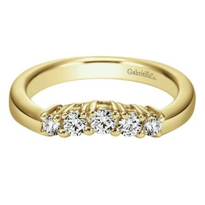 Gabriel 14 Karat Contemporary Wedding Band WB3813M44JJ
