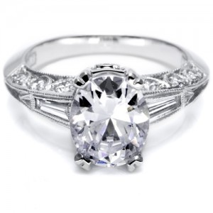 Tacori Crescent Platinum Engagement Ring HT227012