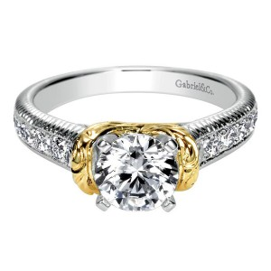 Gabriel 14 Karat Contemporary Engagement Ring ER9238M44JJ