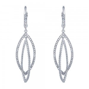 Gabriel Fashion 14 Karat Hampton Diamond Drop Earrings EG11376W45JJ