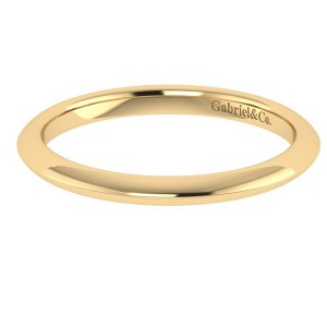 Gabriel 14 Karat Contemporary Wedding Band WB7737Y4JJJ