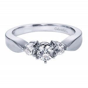 Gabriel Platinum Contemporary Engagement Ring ER1705PT3JJ