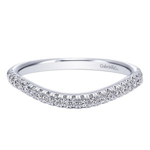 Gabriel 14 Karat Contemporary Wedding Band WB10149W44JJ