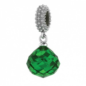 JLo Collection Endless Jewelry Emerald Mysterious Drop Sterling Silver Charm 3301-5
