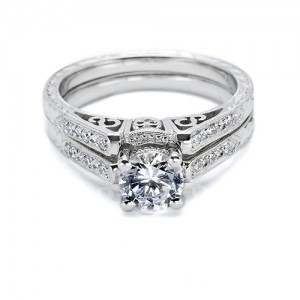 Tacori Platinum Crescent Wedding Band HT2202B