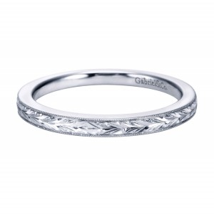 Gabriel Platinum Victorian Wedding Band WB7223PTJJJ