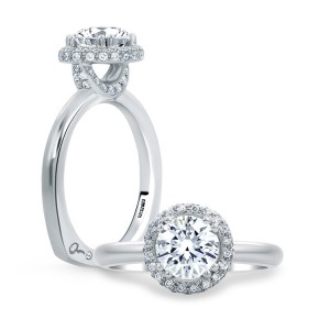 A.JAFFE Platinum Signature Engagement Ring MES672