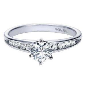 Gabriel 14 Karat Contemporary Engagement Ring ER2150W44JJ