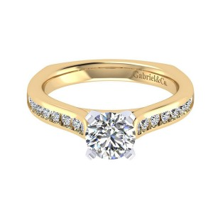 Gabriel 14 Karat Contemporary Engagement Ring ER6640M44JJ
