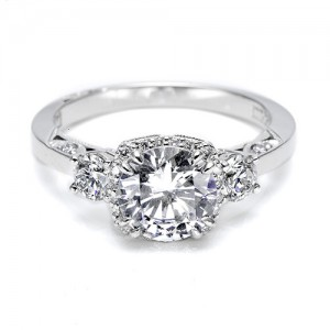 Tacori Platinum Dantela Engagement Ring 2623RDMD