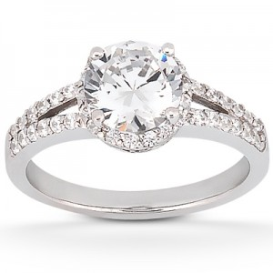 Taryn Collection Platinum Diamond Engagement Ring TQD 4278