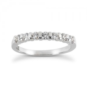 Diamond Five Stone Band 14 Karat Taryn Collection TQD B-692-5