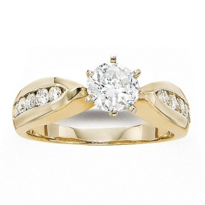 Gabriel 14 Karat Contemporary Engagement Ring ER2624M44JJ