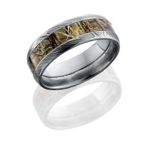 Lashbrook DCAMO8D14/RTMAX4 POLISH Camo Wedding Ring or Band