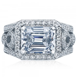 Tacori HT2610EC10X8 18 Karat RoyalT Engagement Ring