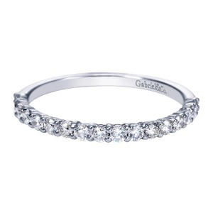Gabriel 14 Karat Contemporary Wedding Band WB7499W44JJ