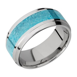 Lashbrook 9B15(S)/MOSAIC Titanium Wedding Ring or Band