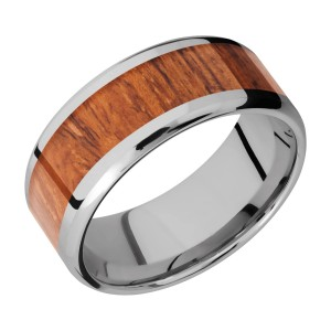 Lashbrook 9B16(NS)/HARDWOOD Titanium Wedding Ring or Band