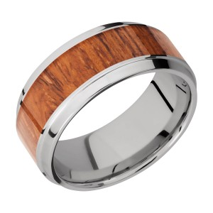 Lashbrook 9B16(S)/HARDWOOD Titanium Wedding Ring or Band