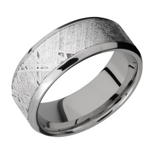 Lashbrook 9B17(NS)/METEORITE Titanium Wedding Ring or Band