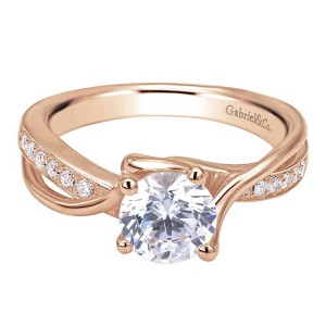 Gabriel 14 Karat Contemporary Engagement Ring ER6360K44JJ