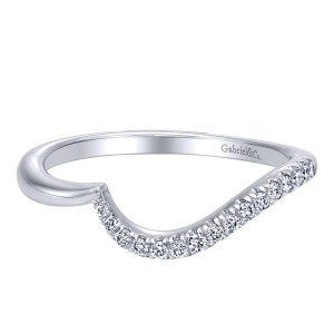 Gabriel 14 Karat Contemporary Wedding Band WB10072W44JJ