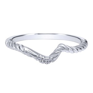 Gabriel 14 Karat Contemporary Wedding Band WB10944W44JJ