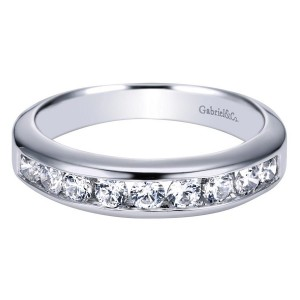Gabriel 14 Karat Contemporary Wedding Band WB3962W44JJ