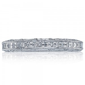 HT2509B12X Platinum Tacori Reverse Crescent Diamond Wedding Ring