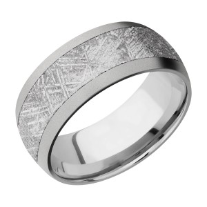 Lashbrook 9D16/METEORITE Titanium Wedding Ring or Band