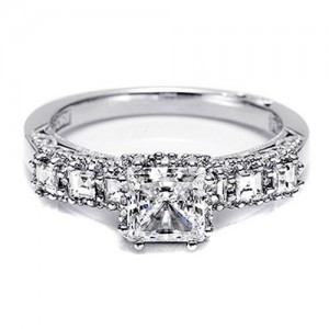 Tacori Dantela Platinum Engagement Ring 2629SQ