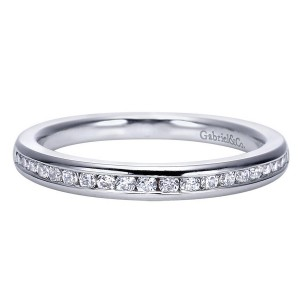 Gabriel 14 Karat Contemporary Wedding Band WB8223W44JJ