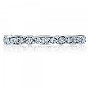 Tacori 47-2ET 18 Karat Sculpted Crescent Diamond Wedding Band