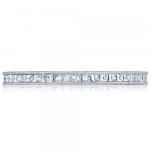 45-15ET Platinum Tacori Sculpted Crescent Diamond Wedding Ring