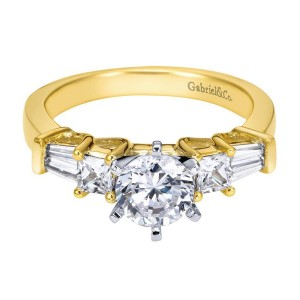 Gabriel 14 Karat Contemporary Engagement Ring ER3693M44JJ