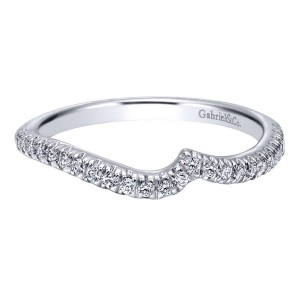 Gabriel 14 Karat Contemporary Wedding Band WB10308W44JJ
