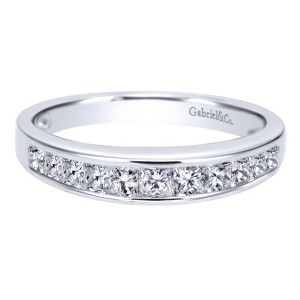 Gabriel 14 Karat Contemporary Wedding Band WB1737W44JJ