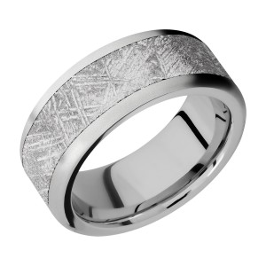 Lashbrook 9F16/METEORITE Titanium Wedding Ring or Band