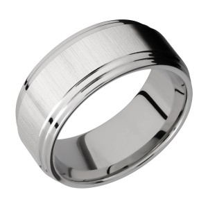 Lashbrook 9F2S Titanium Wedding Ring or Band