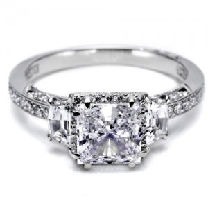 Tacori Dantela Platinum Engagement Ring 2628PRP