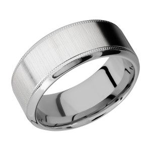 Lashbrook 9HB2UMIL Titanium Wedding Ring or Band