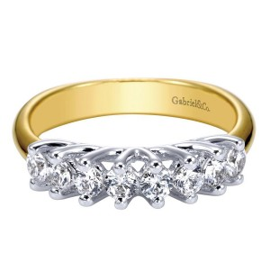 Gabriel 14 Karat Contemporary Wedding Band WB3956Y44JJ