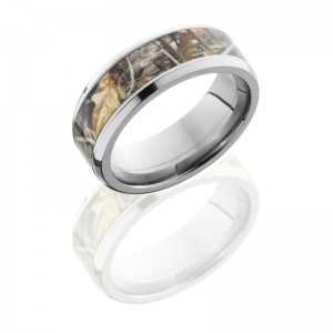 Lashbrook CAMO8B15-RTMAX4 POLISH Camo Wedding Ring or Band