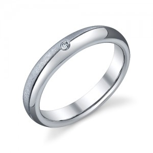 240917 Christian Bauer Platinum Diamond  Wedding Ring / Band
