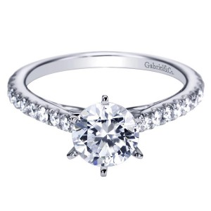 Gabriel 14 Karat Contemporary Engagement Ring ER7533W44JJ